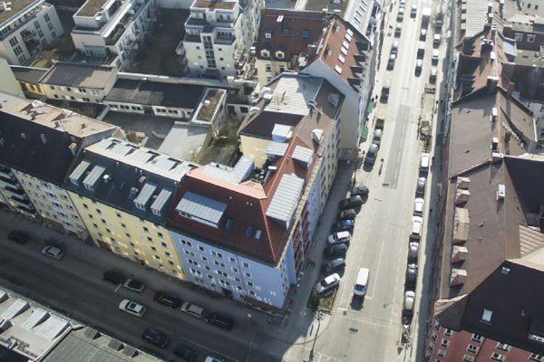 vogelperpektive blaues haus münchen maxvorstadt rw realwerte