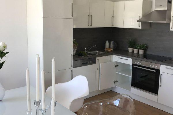 Neubau in Lahr Innenansicht Küche Quartierplatz
