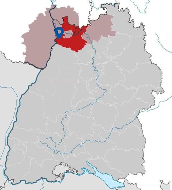 Karte Standort Hockenheim Objekt